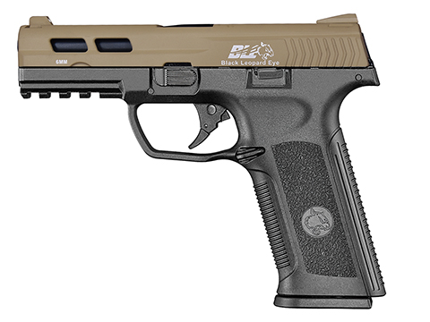 ICS BLE-XAE Ambidextrous Duty Size GBB Airsoft Pistol (Color: Two Tone Tan Slide / Black Frame)