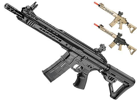 ICS CXP-MARS Carbine Full Metal M4 Airsoft AEG Rifle (Color: Black)