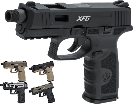 ICS BLE-XFG Ambidextrous Airsoft Gas Blowback Pistol (Color: Black)