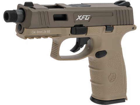 ICS BLE-XFG Ambidextrous Airsoft Gas Blowback Pistol (Color: Tan)