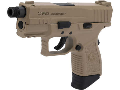 ICS BLE-XPD Ambidextrous Airsoft Gas Blowback Pistol (Color: Tan)