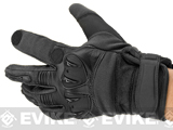Matrix Tactical Knuckle Protector Leather Shooting Gloves (Color: Black / Small)
