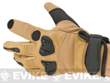 Matrix Tactical Knuckle Protector Leather Shooting Gloves (Color: Tan / Large)