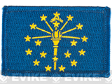 Evike.com Tactical Embroidered U.S. State Flag Patch (State: Indiana The Hoosier State)