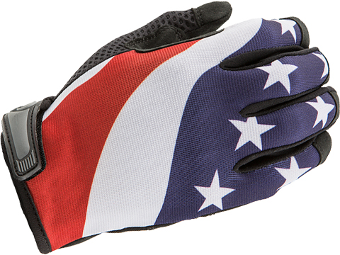 Industrious Handwear Unlined Gloves (Model: American Flag / Large)