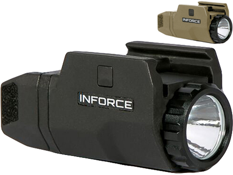 INFORCE APLc 200 Lumen Picatinny Rail Mounted Weapon Light for Pistols (Color: Black)