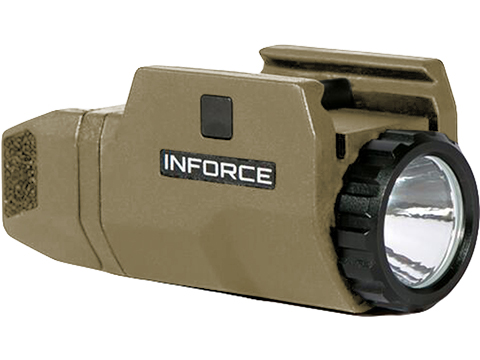 INFORCE APLc 200 Lumen Picatinny Rail Mounted Weapon Light for Pistols (Color: Flat Dark Earth)