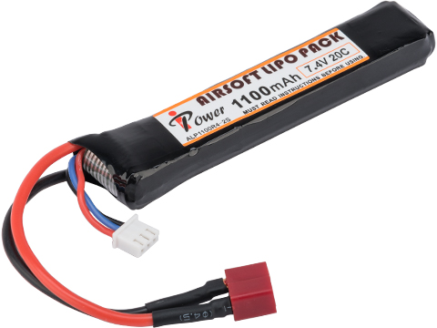 Intellect iPower 7.4v 1000mah 20c Airsoft Buffer Tube LiPo Battery Pack (Configuration: Deans)