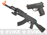 CYMA IU-AK47 LPAEG Beginner Airsoft AEG Package - Black