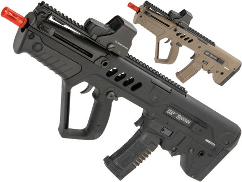IWI Tavor CTAR Flat Top Short Barreled Airsoft AEG with Inline MOSFET FCU (Color: Black)