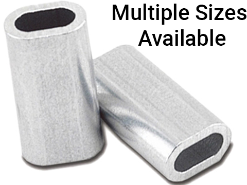 Izorline Super Single Aluminum Sleeves (Test: 100lb / Short)
