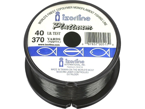 Izorline Platinum Co-Polymer Mono Line (Test: 40Lb Green / 370 Yards)