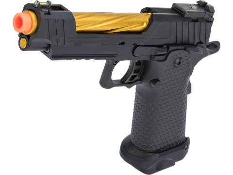 JAG Arms GMX 1.0 Gas Blowback Airsoft Pistols (Color: Black / Gold Barrel)