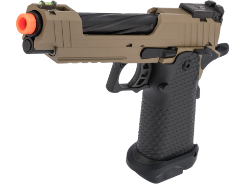 JAG Arms GMX 1.0 Gas Blowback Airsoft Pistols (Color: Tan / Black Barrel)