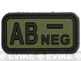 AB Negative PVC Patch - Green