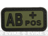 AB Positive PVC Patch - Green
