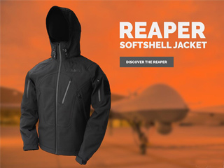 EMG Reaper Softshell Jacket - Black (Size: Large)