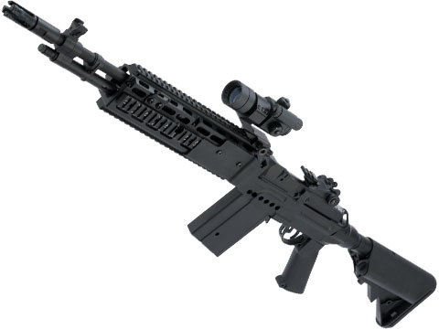 Echo1 M14 Combat Master EBR Designated Marksman Rifle Airsoft AEG (Color: Black)