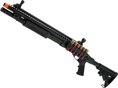 JAG Arms Gas Scattergun Airsoft Shotgun (Model: SP / Black)