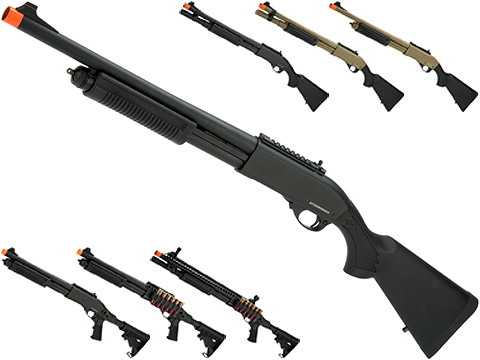JAG Arms Gas Scattergun Airsoft Shotgun (Model: Super CQB / Black)
