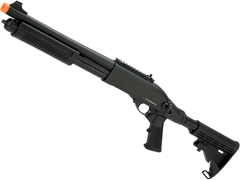 JAG Arms Gas Scattergun Airsoft Shotgun (Model: TS / Black)