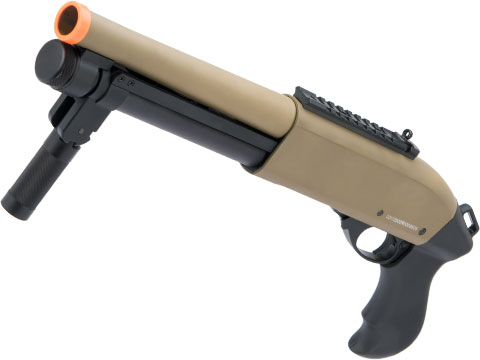 JAG Arms Gas Scattergun Airsoft Shotgun (Model: Super CQB / Tan)