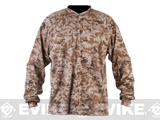 Emerson Long Sleeve Loose Fit Mesh Combat Shirt - Digital Desert (Size: Medium)