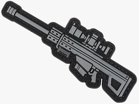 Evike.com PVC Morale Patch Mini Gun Series (Model: .50cal Anti-Material Rifle / Black)