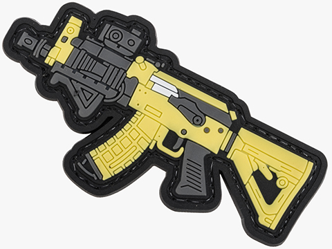 Evike.com PVC Morale Patch Mini Gun Series (Model: Contractor AK / Tan)