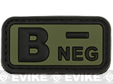 B Negative PVC Patch - Green