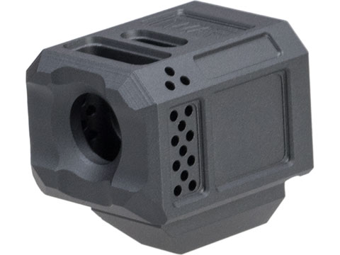 Janus Division WAR Licensed A10 Compensator 14mm CCW for ISSC M22, SAI BLU, Lonewolf, & Compatible Airsoft Gas Blowback Pistol