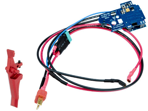 JeffTron Leviathan Airsoft Drop-In Programmable MOSFET Module (Type: V2 - Red Trigger / Wired To Stock)
