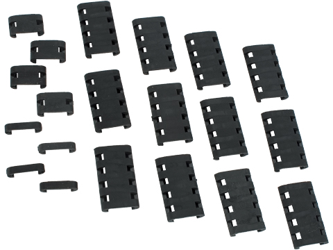 Matrix Military Spec Ladder Type Rail Covers - Set of 20 (Color: Black)