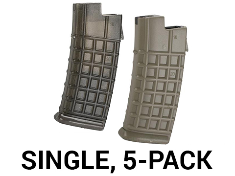 JG 330 Round Hi-Cap Magazine for AUG Series AEGs (Color: Black / Single)