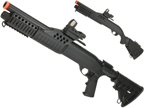 JG / AGM Full Size SPAS Realistic Shell Loading Airsoft Shotgun (Version: Full Stock)
