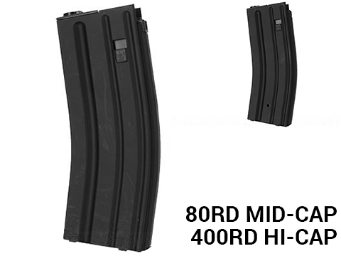 ACM / Battleaxe Steel Magazine for Tokyo Marui Next Gen Series M4 / M16 Airsoft AEG (Type: 80rd Mid-Cap)
