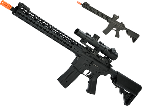 Matrix SPR 15 M4 Airsoft AEG Rilfe with Retractable Stock (Version: Keymod Handguard)