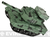 Miniature RC Airsoft Battle Tank - Type 2 (Green Camo)