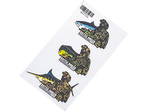 Battle Angler Vinyl Decal Sticker Pack