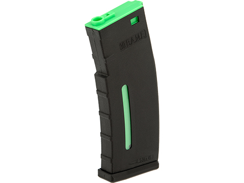 Evike.com BAMF 190rd Polymer Mid-Cap Magazine for M4 / M16 Series Airsoft AEG Rifles (Color: Black w/ Green / Single Magazine)