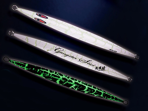 Jigging Master Gangster Jig Tri-Facet Laser / Anodized Luminous Iron Jig (Model: 200g / #01)