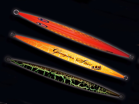 Jigging Master Gangster Jig Tri-Facet Laser / Anodized Luminous Iron Jig (Model: 500g / #05)