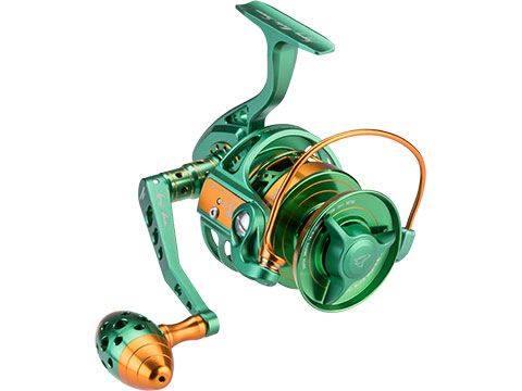Jigging Master Monster Game Spinning Fishing Reel (Model: 5000H / Yellow Fin Special Green & Gold)