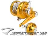 Jigging Master Ocean Devil Fishing Reel - Gold / Silver
