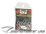 Jigging Master Stainless Steel Figure 8 Ring - 10 pcs (Size: Medium)