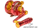 Jigging Master Monster Game High Speed Fishing Reel - Red / Gold