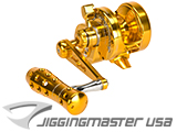Jigging Master Monster Game High Speed Fishing Reel - Gold (Size: PE3 / Left Hand)