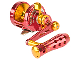 Jigging Master Power Spell Fishing Reel - Red / Gold