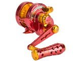 Jigging Master Monster Game High Speed Fishing Reel - Red / Gold (Size: PE5N / Narrow)