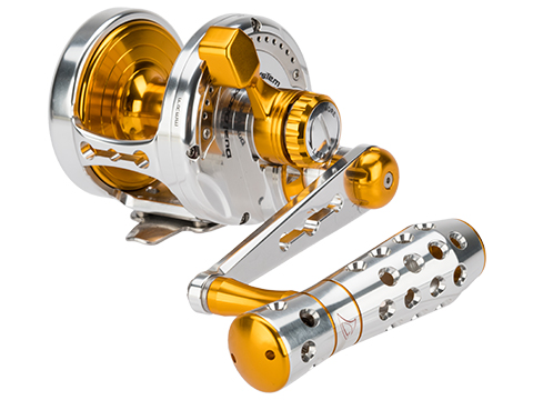 Jigging Master Power Spell Fishing Reel - Silver / Gold (Size: PE6)